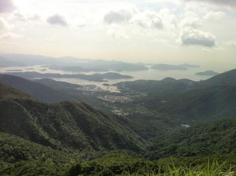 Tates Cairn towards Sai Kung