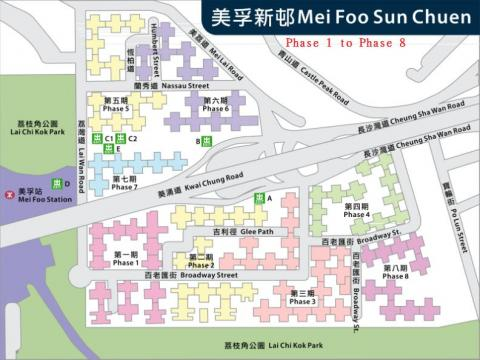 Mei Foo Sun Chuen Ph 1 to Ph 8