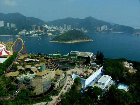Middle Island & Repulse Bay seen from Ocean Park