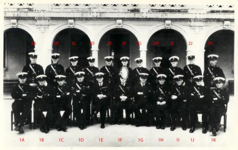 1935 Police Training School group photo