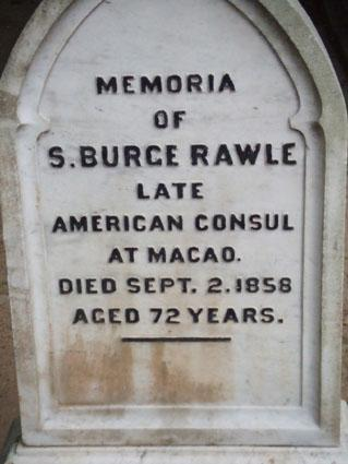 Rawle, Old Protestant Cemetery, Macau