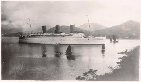 1936 RMS 'Empress of Britain' in Lyemoon Pass