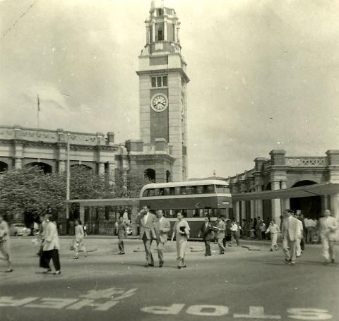 KCR Clock Tower & KMB Star Ferry Terminus - 1954