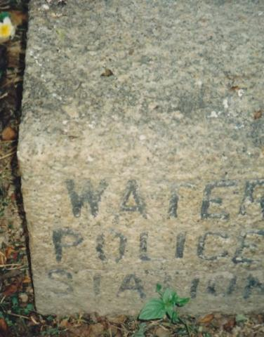 Former Marine Police HQ - Water Police Boundary Stone