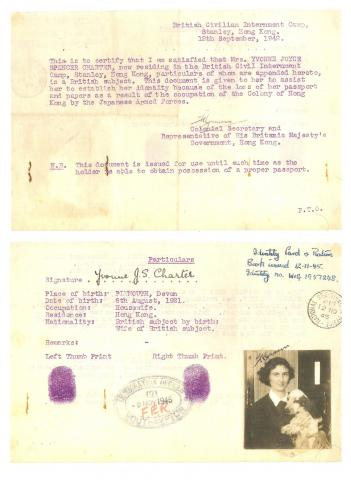 Yvonne Charter's Stanley Camp passport