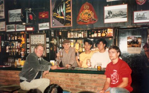 The Railway tavern- Opening day -1985