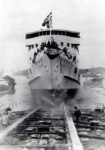 The launching of m/v Tai Loy