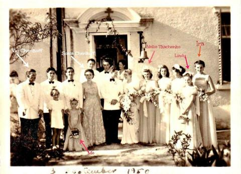 1950 Cherikoff wedding at Russian Orthodox Church, Kowloon Tong