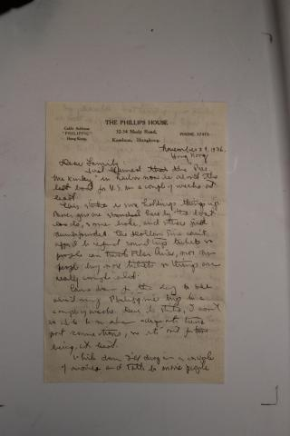 11-29-36 letter From Melville Jacoby to Elza and Manfred Meyberg from Hong Kong p. 1.JPG