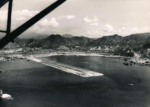 1958 Almost completed runway