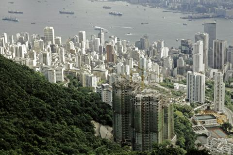 View from the peak on Central and Sheung Wan