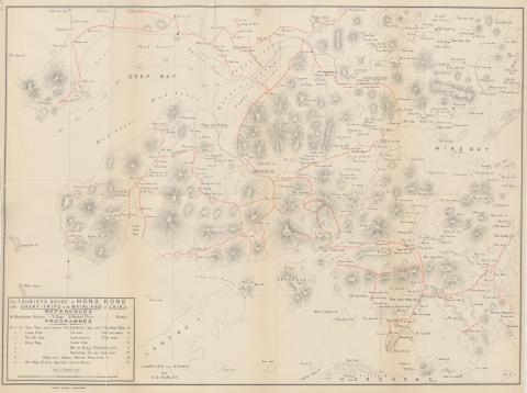 1897 Tourist Map of China and Soon to be New Territories