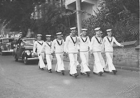 1940 Naval Wedding - Garden Road