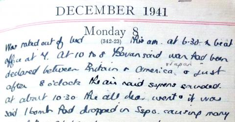 Extract from Barbara Anslow's Diary