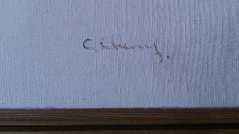 Close up of signature