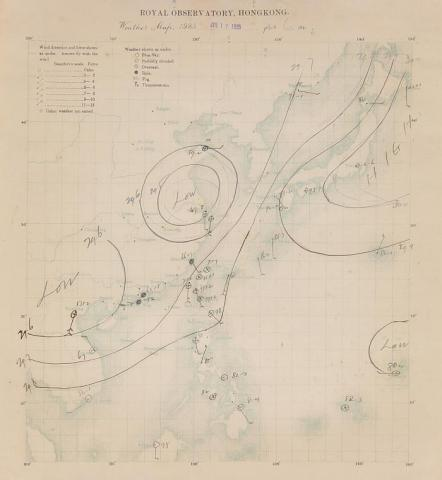 Weather chart at 0600 H on 17 July 1925.