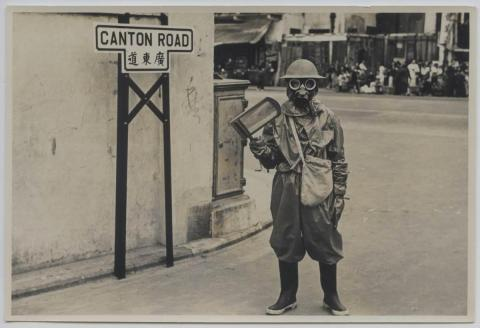 Gas Precautions Training in pre-war Hong Kong