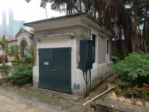 Small building on Wong Nai Chung Road