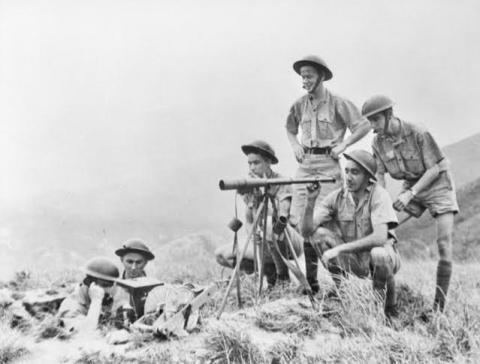 Canadian Army signallers manning a position