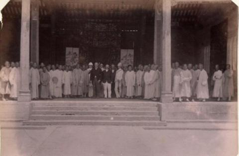 Sir Henry Blake at the Ancestral Hall of Tang Clan in Ping Shan 1899