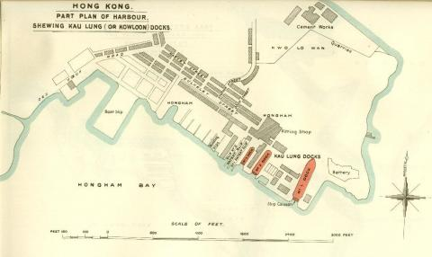 "British Admiralty Plan ""Shewing the Kau Lung or Kowloon Docks"""