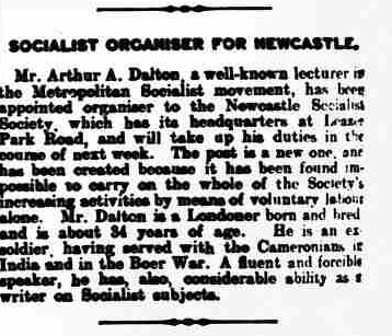 Arthur A. Dalton Newcastle Daily Chronicle Page2 28th January 1909.png