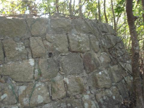 Wall of blockhouse 22 at Railway Pass in 2009