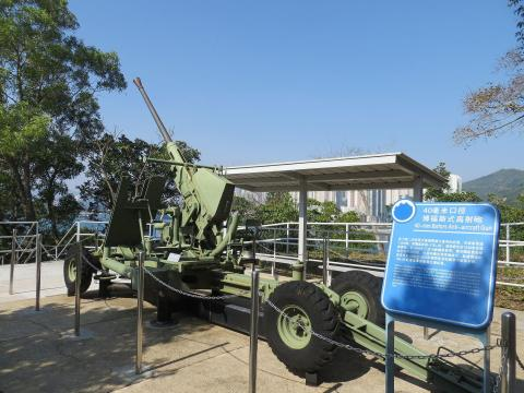 Bofors AA Gun at the Museum of Coastal Defence