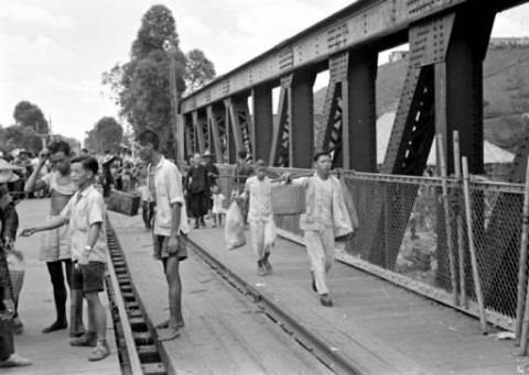 Border Rail/Pedestrian Bridge at Lo Wu,  c. 1950s