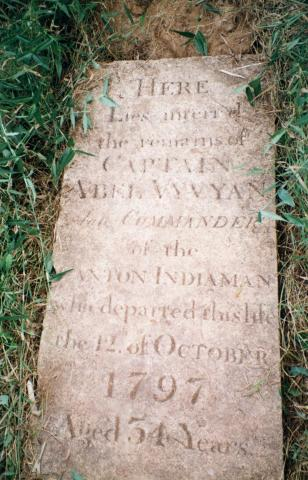 Grave of Captain Abel Vyvyan - Died 2th October 1797