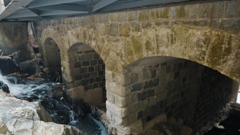Victoria Road Stone Arch Bridge Foundation