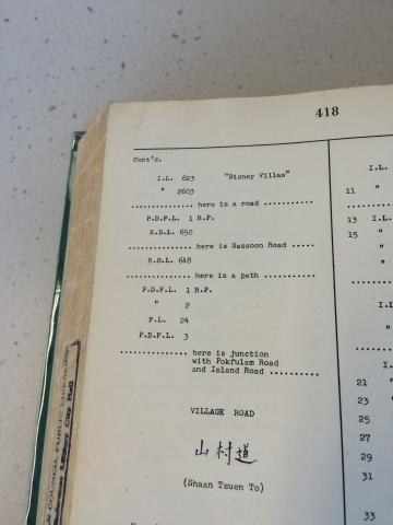 Entry about Inland Lot No. 1299 under 'Victoria Road' in the Index of Streets, House Numbers and Lots for 1956 (part 2 of 2)