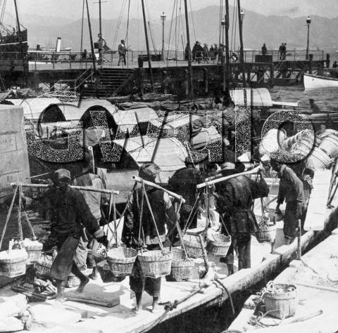 1902 The Wharves at Hong Kong