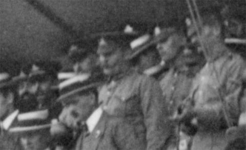 Soldiers in the grand stand