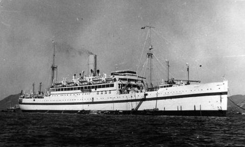 HMTS Empire Halladale Singapore to Hong Kong 1951