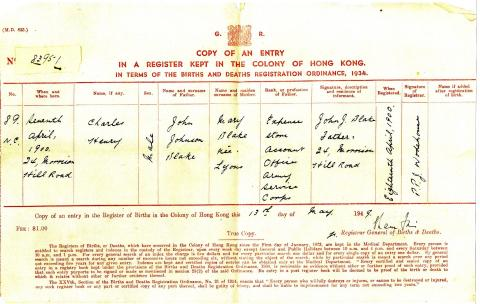 Harry Blake Birth Certificate  1900.jpg
