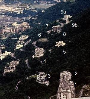 Mid-levels from Victoria Peak - 1951-1955