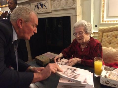 Barbara signing books before last night's talk