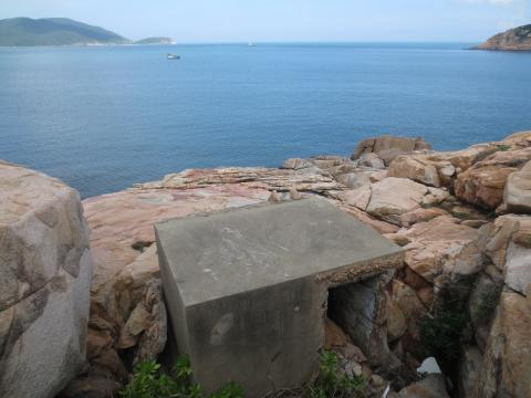 the view with tip of Shek O Headland in distance on right.