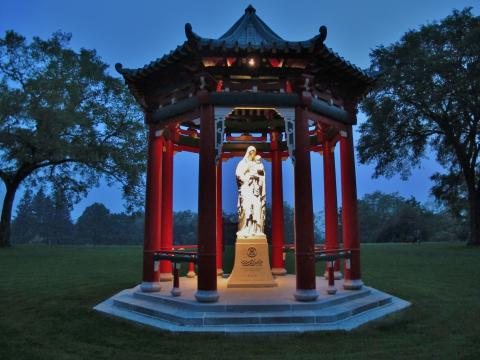 Holy Mary statue on the knoll -  the namesake of Maryknoll