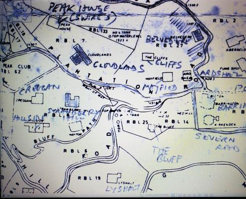 Extract of 1912 Peak Map