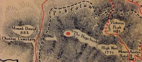 Close-up of Hurley's map
