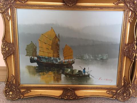 F.c Cheung Chinese Junk, Hong Kong Harbour.