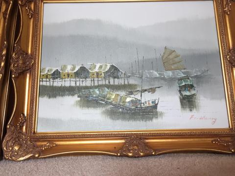 2 x F.c. Cheung paintings