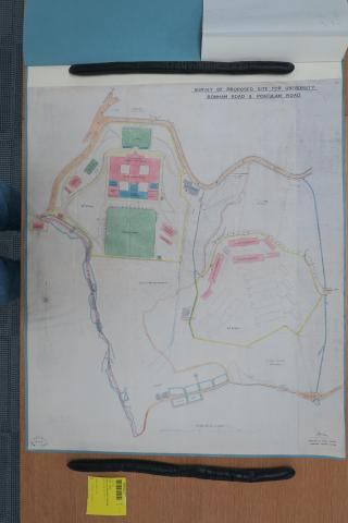 1910 plan of proposed university