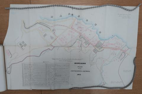 1853 Plan of the Cantonment at Victoria