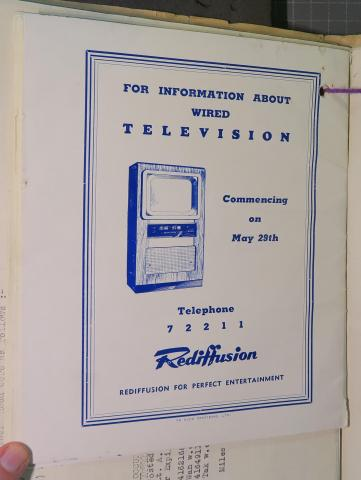 Rediffusion launch advert