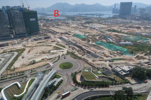 Looking south over Prince Edward Rd E & Kai Tak
