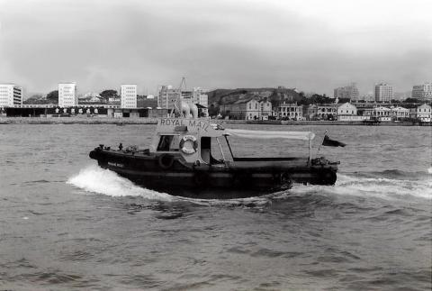Royal Mail Launch with Kowloon dockyard in background