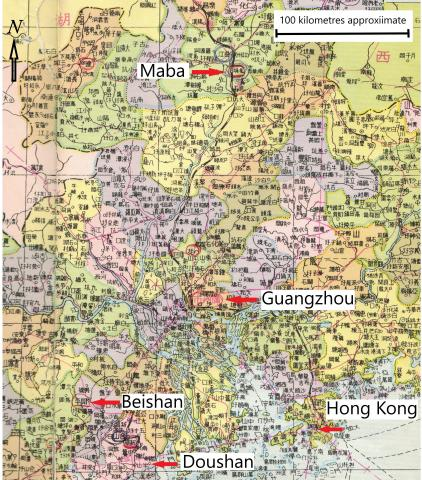 Map - Hong Kong to Maba